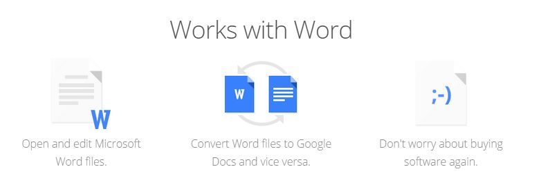 google works with word