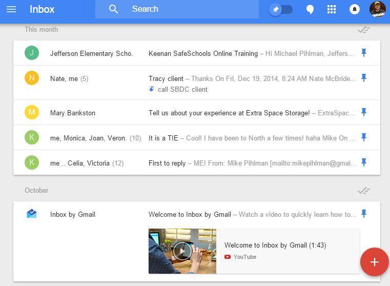 pinned inbox