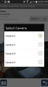 selecting a camera