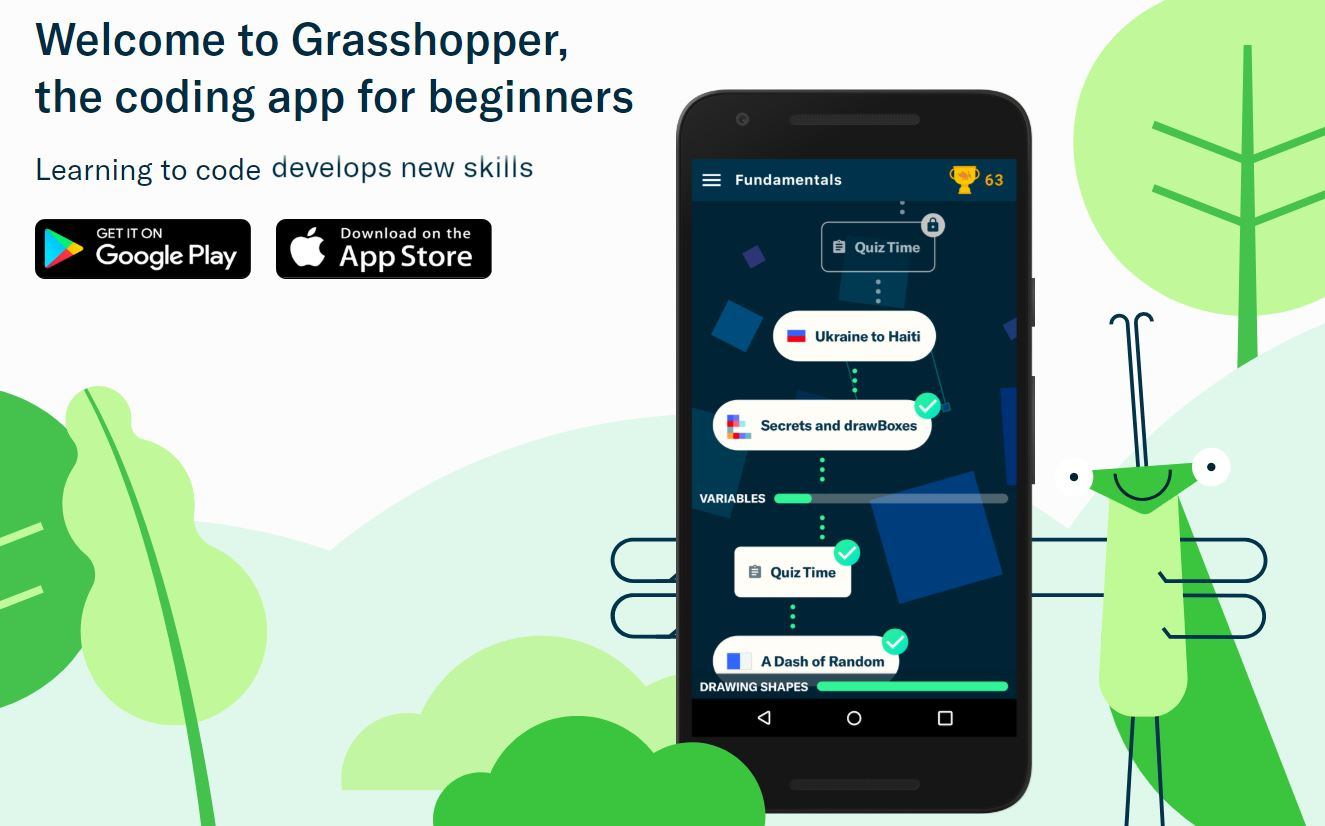 """Grasshopper: Learn to Code in JavaScript"""" by Google's Area 120"""